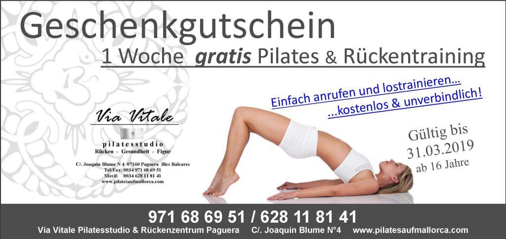 Geschenkgutschein Pilates